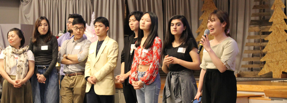 Student Introductions at Potluck