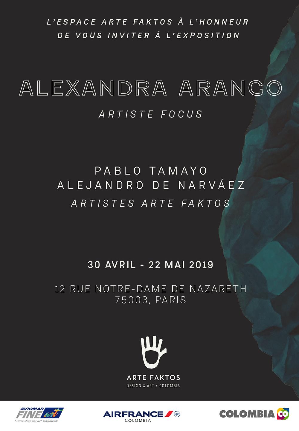 Invitation à l'exposition Artiste Focus | Alexandra Arango
