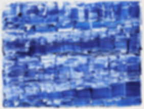 Blue Steel Plates, monotype, 2017 56 x 7