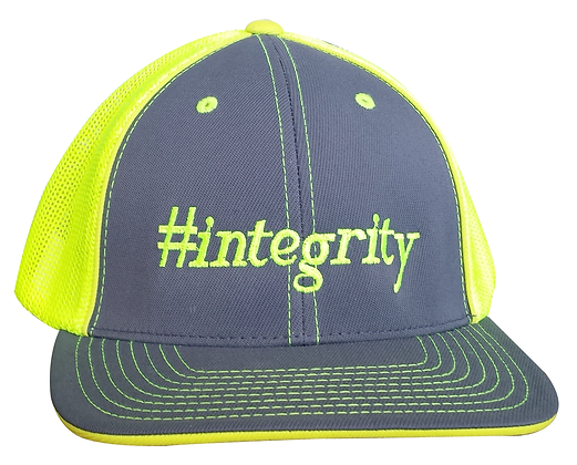 #integrityTrucker Hat, Yellow & Gray, Fitted