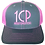 Thumbnail: 1CP Trucker Hat, Pink & Gray, Adjustable