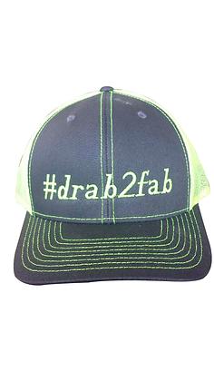 #drab2fab Trucker Hat, Yellow & Gray, Adjustable