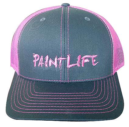 PAINT LIFE Trucker Hat, Pink & Gray, Adjustable