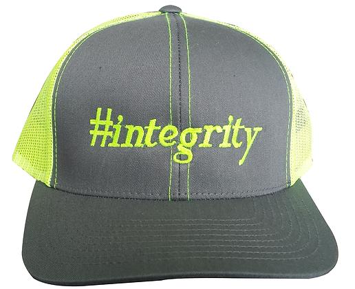 #integrityTrucker Hat, Yellow & Gray,  Adjustable