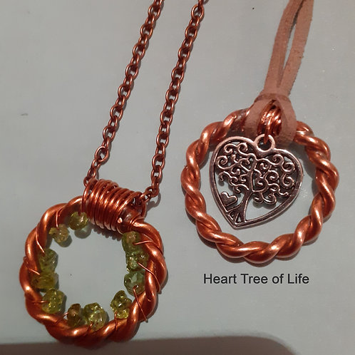 1/8 Lost cubit Tensor Ring. Tree of Life heart symbol