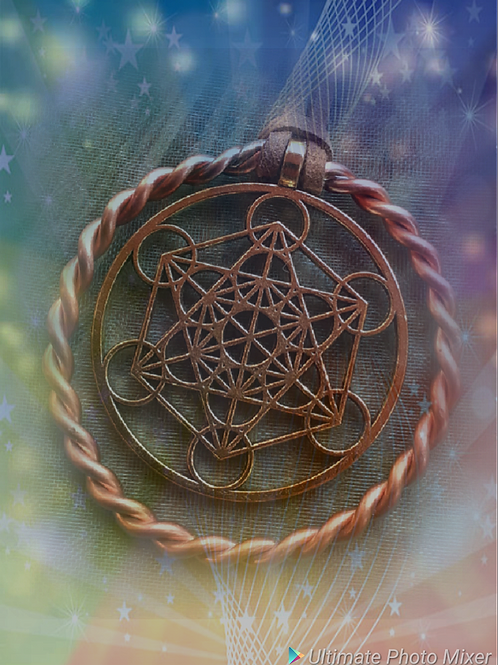 Archangel Metatron / Thoth 1/4 Lost Cubit Tensor ring pendant 177mhz