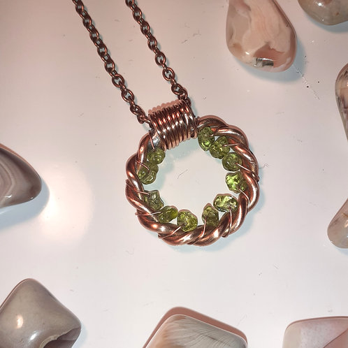 Peridot 1/8 Lost Cubit Ring Pendant