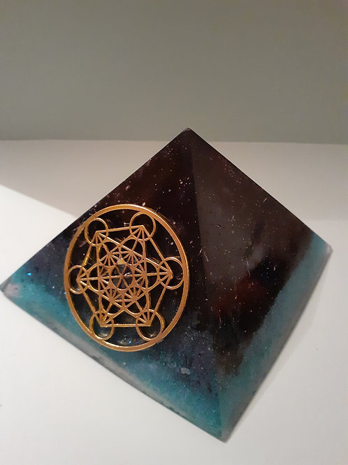 Elite Noble Shungite & Tourmaline Merkabah Orgonite Pyramid