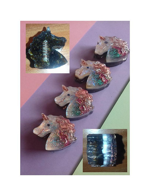 Childs Glitter Mini SHUNGITE & Tourmaline/Quartz EMF busting UNICORN Energy Clea