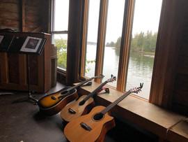 The three guitars that made the trip too