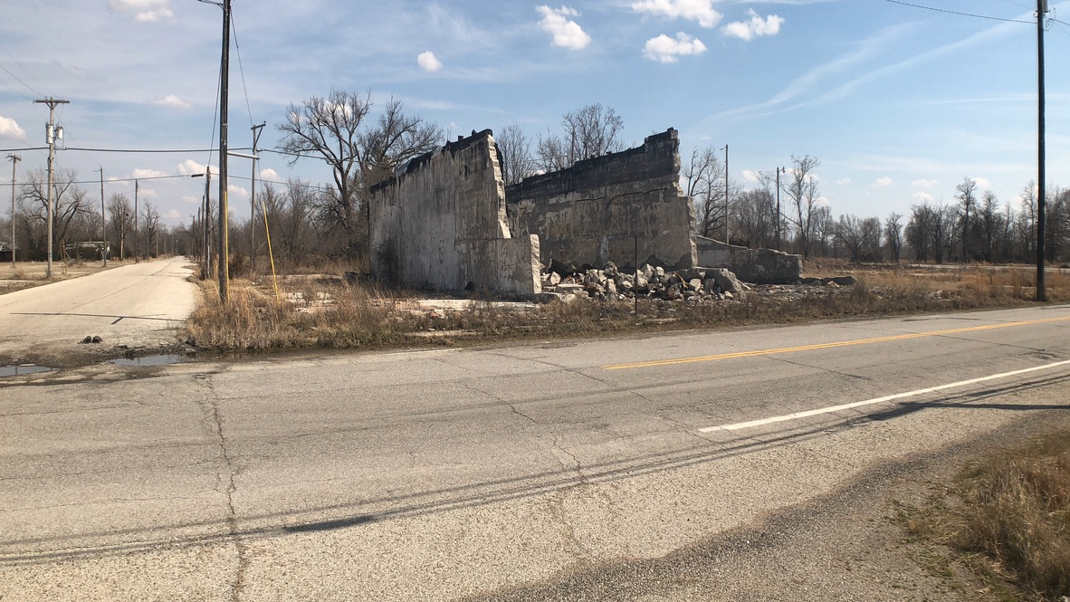 Remains of Hoppy's Pool Hall