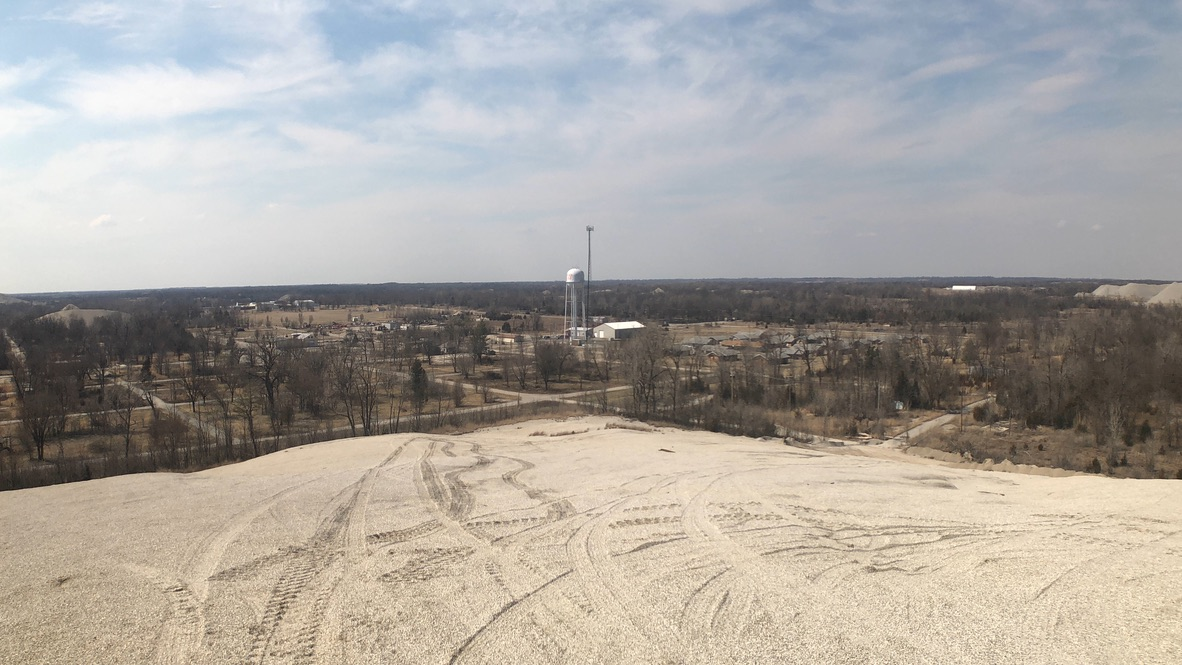 View of Picher from Chat Pile