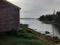 The gorgeous view over the bay right next to the barn