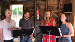 Preston, Jack, Cat, and Maddie sing for The Barn Sessions