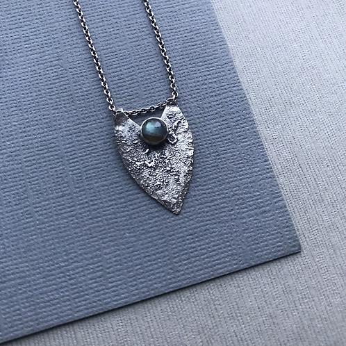 Ancient Shield Necklace with Labradorite