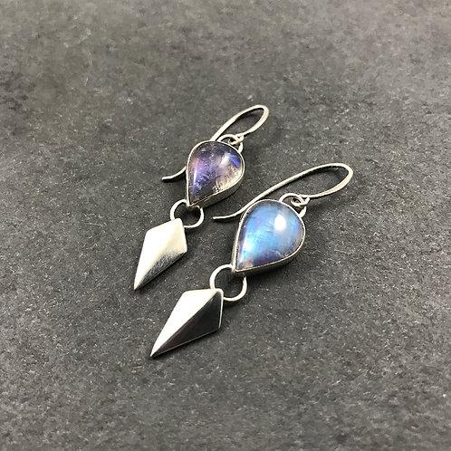 Moonstone Blade Earrings