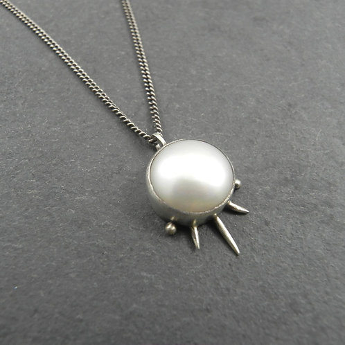 Spiked Pearl Necklace