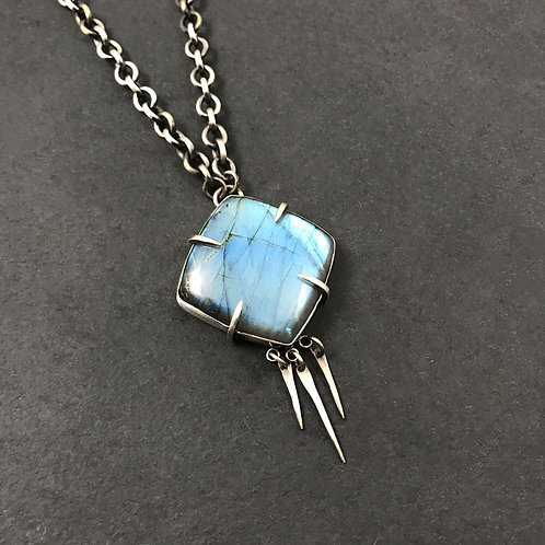 Spiked Labradorite Necklace