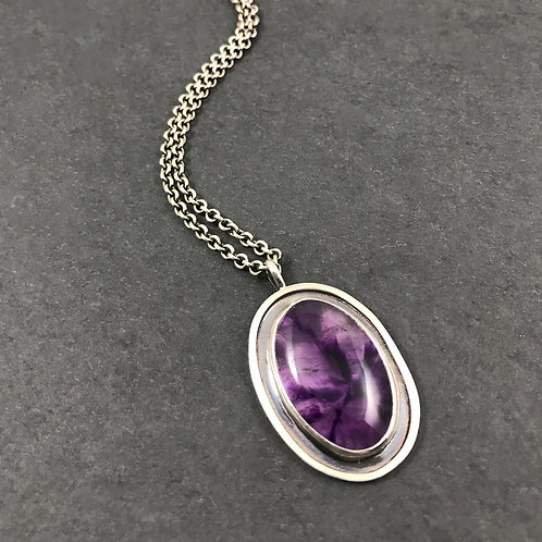 Shadowbox Necklace with Amethyst