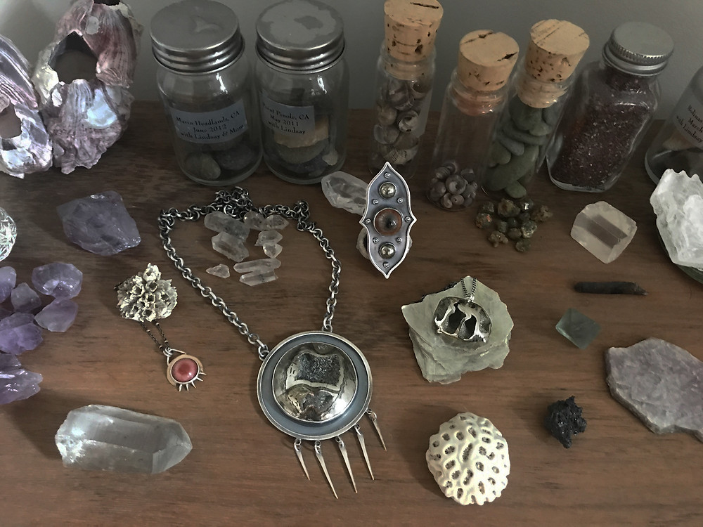 Emily Percival jewelry cabinet of curiosities