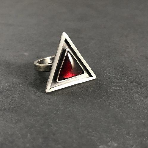 Elemental Ring with Garnet