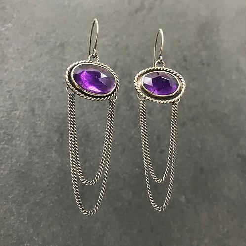 Verna Earrings with Amethyst