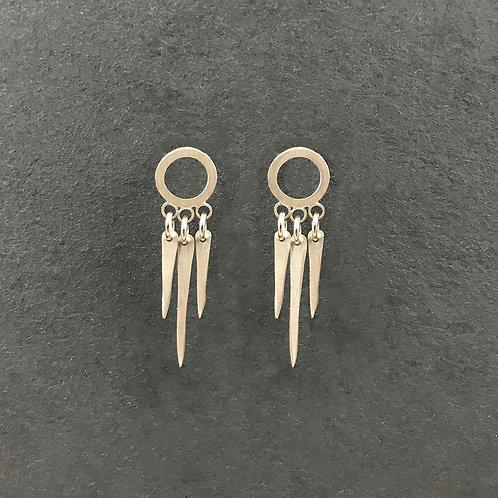 Spike Fringe Post Earrings