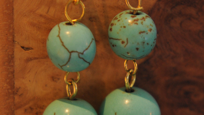 Small Turquoise Bead Earrings