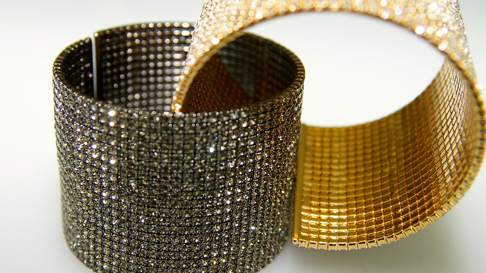 Diamonesque 20 Row Cuff 2 colors