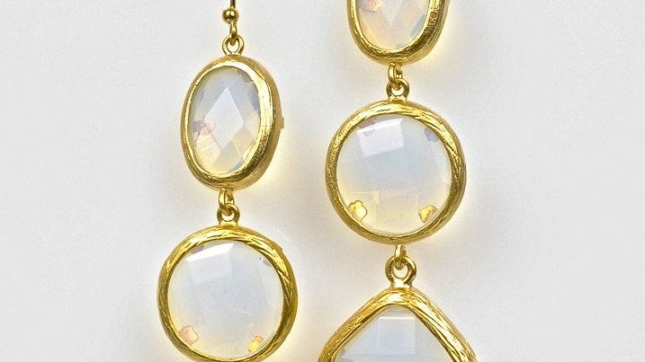 Moonstone Triple Drop Earrings