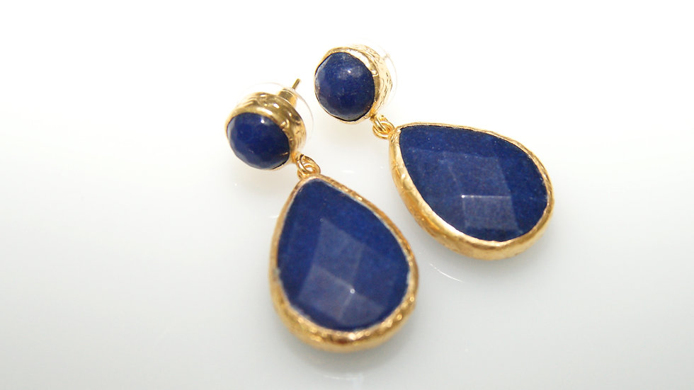 Lapis Drop Earrings with Post