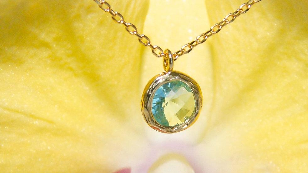 Light Blue Pendant on Chain flower