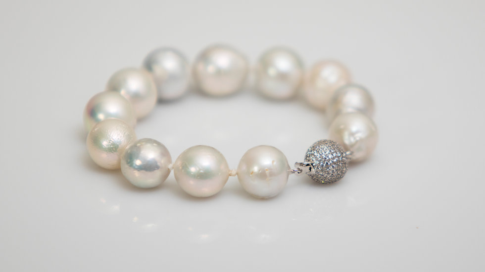 South Sea White Pearl Bracelet