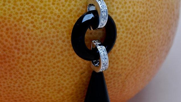Italian Marble Drop Earrings