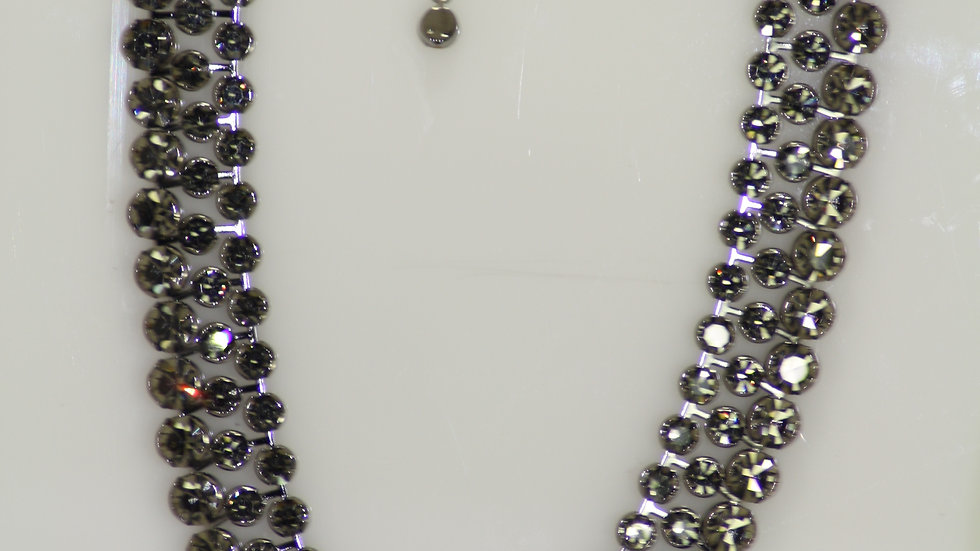 Triple Row Crystal Necklace 1