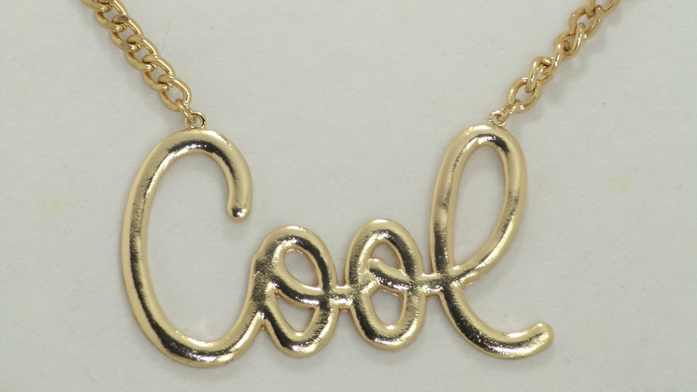 """Cool"" Name Plate Necklace"