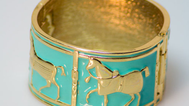 Large Turquoise Equestrian Cuff
