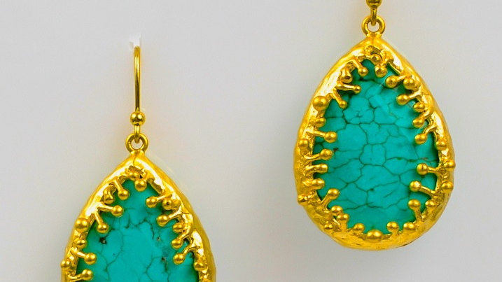 Small Turquoise Drop Earring