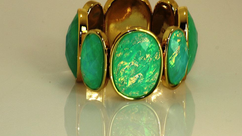 Iridescent Green Stretch Bracelet