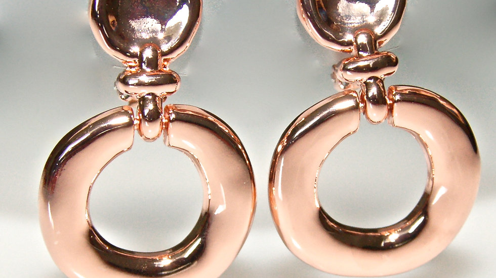 Rose Gold Circle Clip-on Earrings