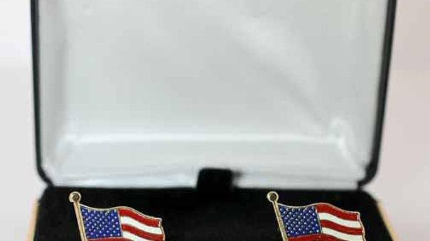 American Flag Enamel Cufflinks box