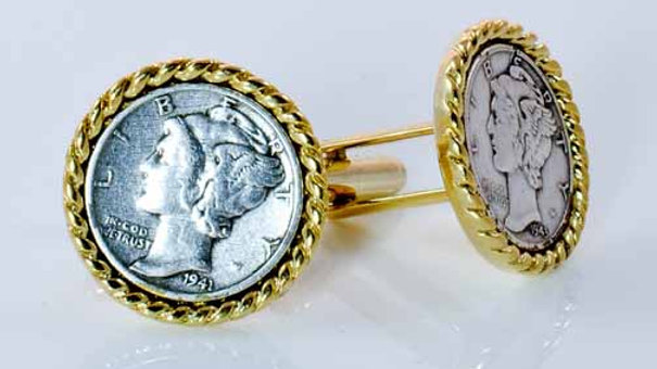 Liberty Coin Cufflinks side