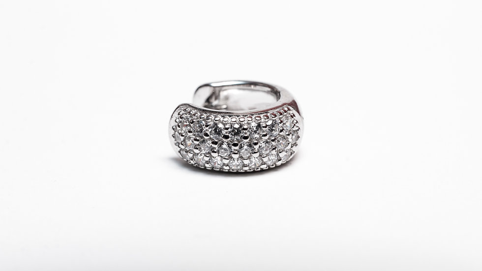 Micro Pave CZ Hoops zoom
