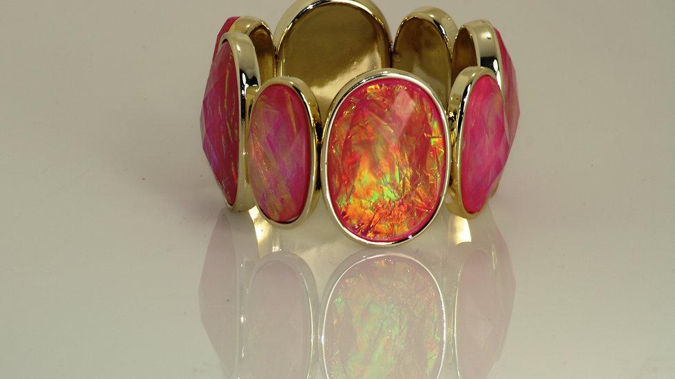 Iridescent Pink Stretch Bracelet