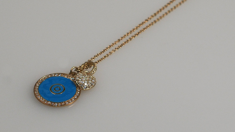 Evil Eye Pendant On Chain 3/4