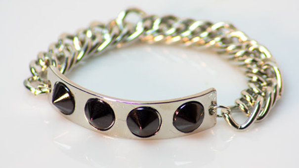 Two Tone Spiked Bracelet