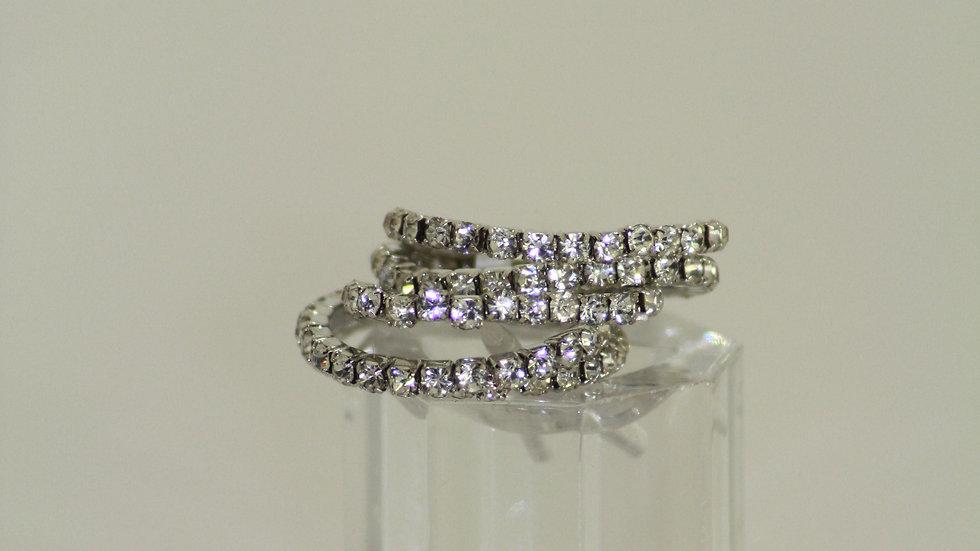 Crystal Stretch Ring Set