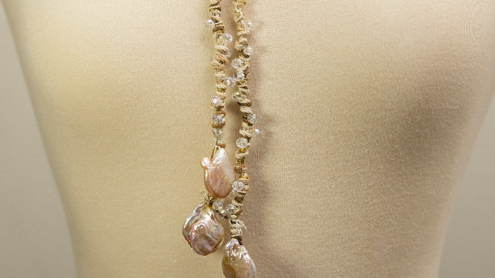 6 SS Pearls Linen Strand