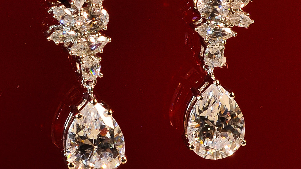 Small Diamonesque Drop Earrings