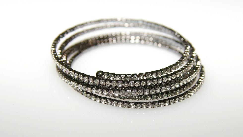 Flexible Diamonesque Bracelet Black